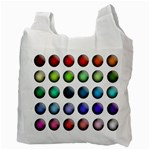 Button Icon About Colorful Shiny Recycle Bag (Two Side)  Back