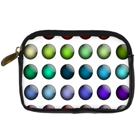 Button Icon About Colorful Shiny Digital Camera Cases