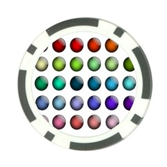Button Icon About Colorful Shiny Poker Chip Card Guards (10 pack)