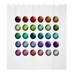 Button Icon About Colorful Shiny Shower Curtain 66  x 72  (Large)  66 x72 Curtain
