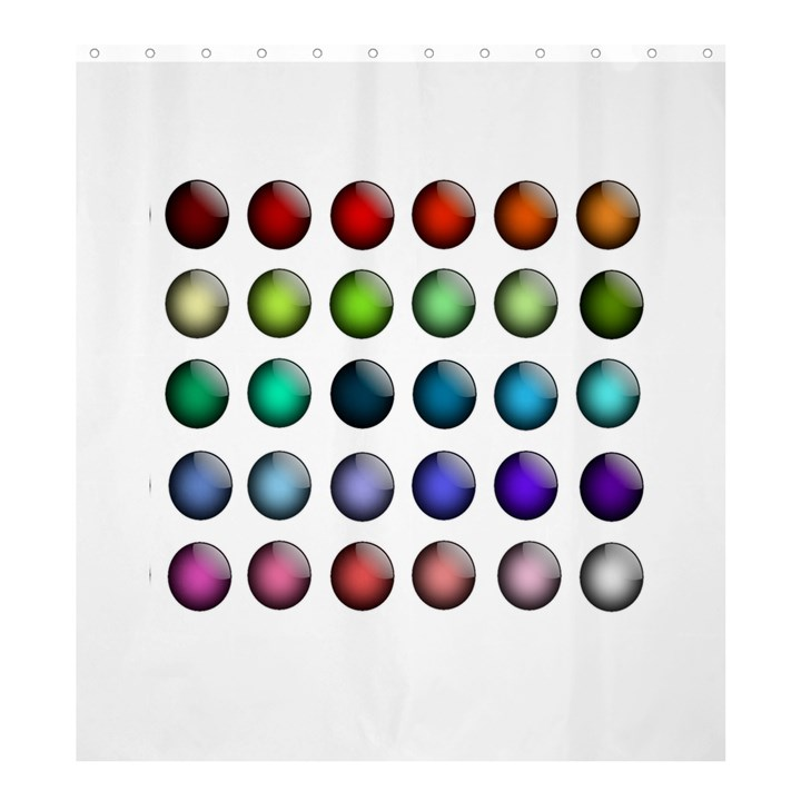 Button Icon About Colorful Shiny Shower Curtain 66  x 72  (Large)