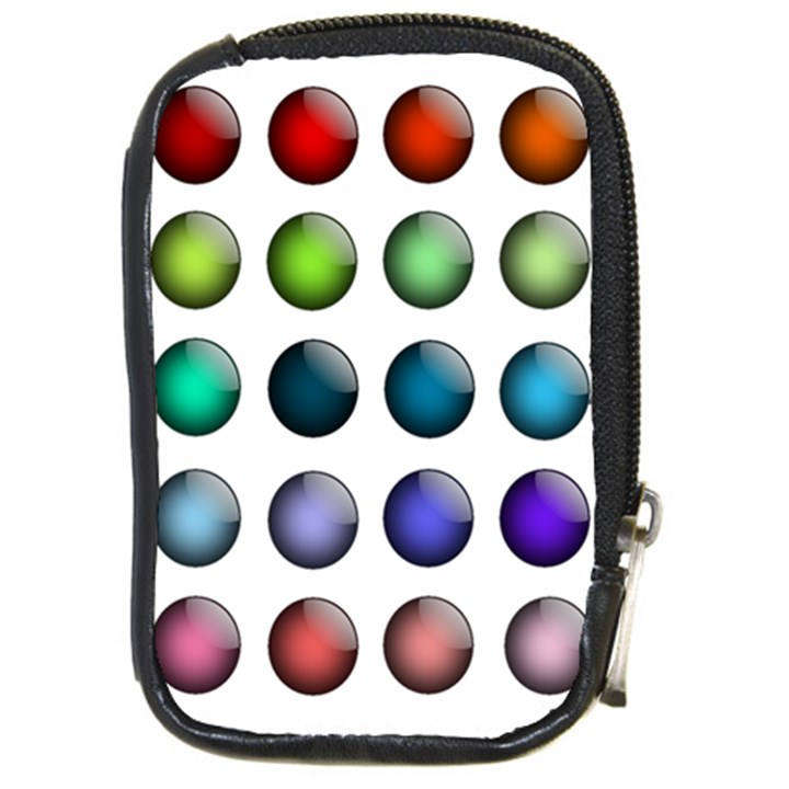 Button Icon About Colorful Shiny Compact Camera Cases