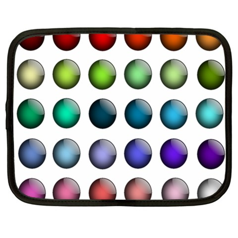 Button Icon About Colorful Shiny Netbook Case (XL)