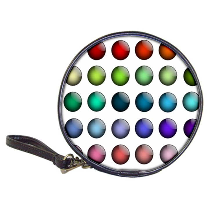 Button Icon About Colorful Shiny Classic 20-CD Wallets