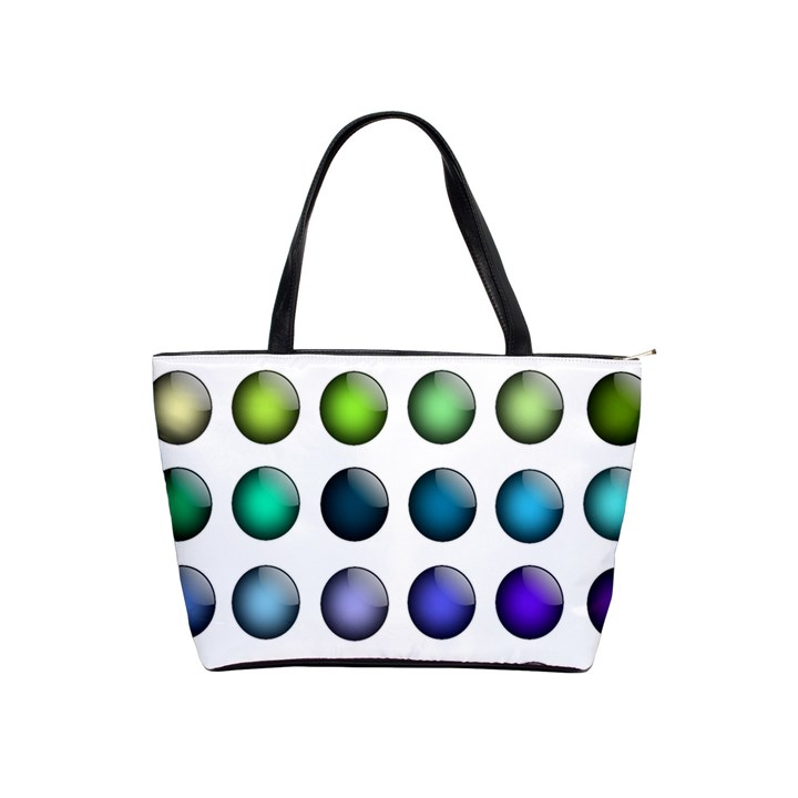 Button Icon About Colorful Shiny Shoulder Handbags