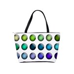 Button Icon About Colorful Shiny Shoulder Handbags Back