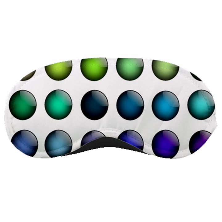 Button Icon About Colorful Shiny Sleeping Masks