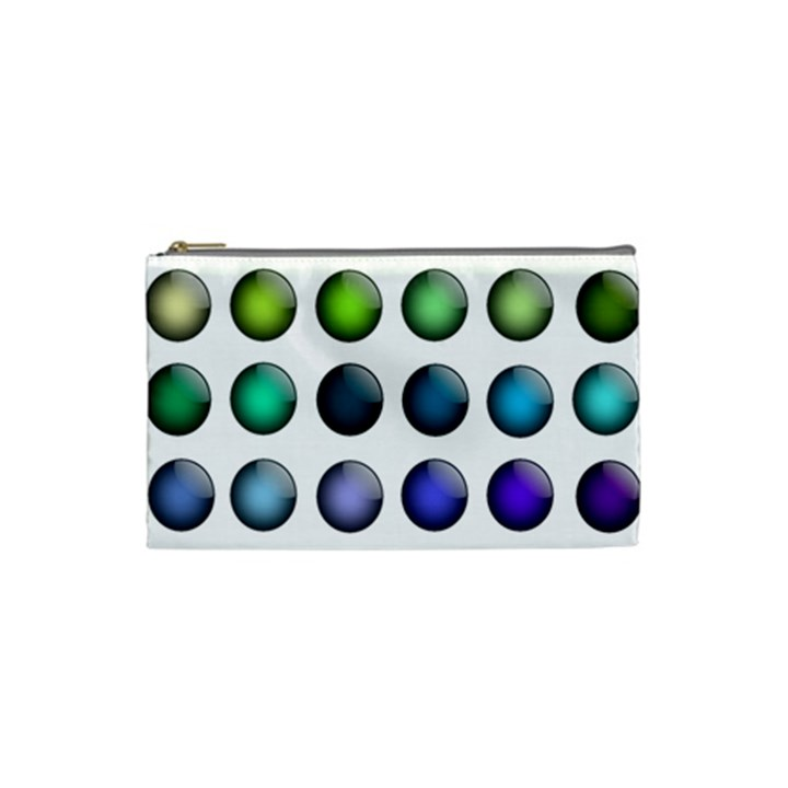 Button Icon About Colorful Shiny Cosmetic Bag (Small)