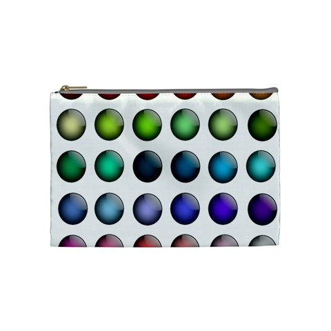 Button Icon About Colorful Shiny Cosmetic Bag (Medium)