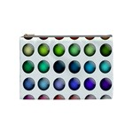 Button Icon About Colorful Shiny Cosmetic Bag (Medium)  Front