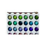 Button Icon About Colorful Shiny Cosmetic Bag (Medium)  Back