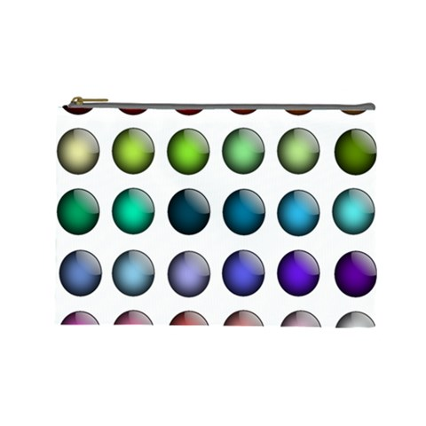 Button Icon About Colorful Shiny Cosmetic Bag (Large)