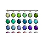 Button Icon About Colorful Shiny Cosmetic Bag (Large)  Front