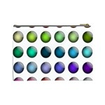 Button Icon About Colorful Shiny Cosmetic Bag (Large)  Back