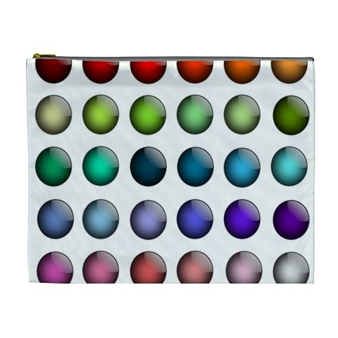 Button Icon About Colorful Shiny Cosmetic Bag (XL)