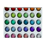 Button Icon About Colorful Shiny Cosmetic Bag (XL) Front