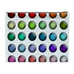 Button Icon About Colorful Shiny Cosmetic Bag (XL) Back