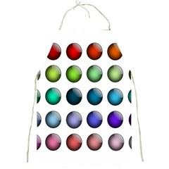 Button Icon About Colorful Shiny Full Print Aprons