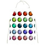 Button Icon About Colorful Shiny Full Print Aprons Front