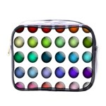 Button Icon About Colorful Shiny Mini Toiletries Bags Front