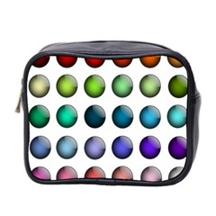 Button Icon About Colorful Shiny Mini Toiletries Bag 2-Side