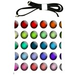 Button Icon About Colorful Shiny Shoulder Sling Bags Front