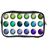Button Icon About Colorful Shiny Toiletries Bags Front