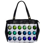 Button Icon About Colorful Shiny Office Handbags Front
