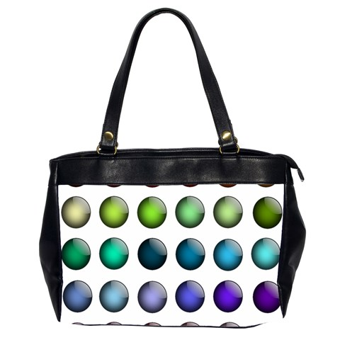 Button Icon About Colorful Shiny Office Handbags (2 Sides)