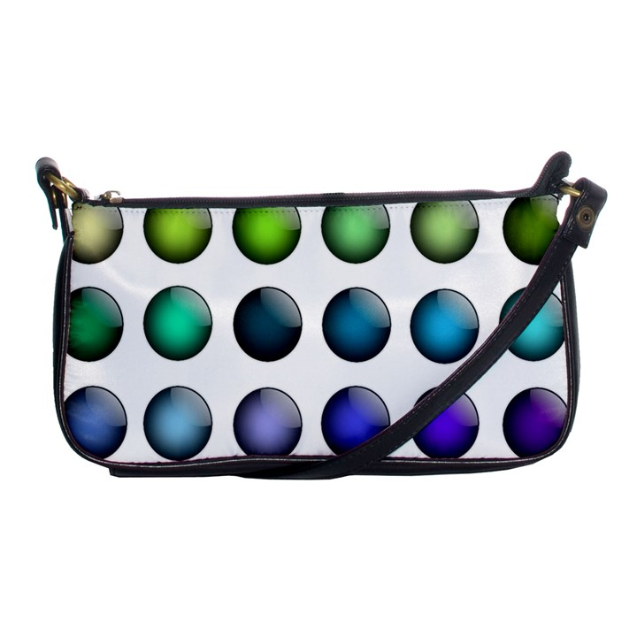 Button Icon About Colorful Shiny Shoulder Clutch Bags