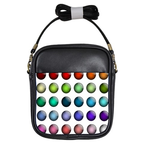 Button Icon About Colorful Shiny Girls Sling Bags