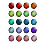 Button Icon About Colorful Shiny 5.5  x 8.5  Notebooks Front Cover