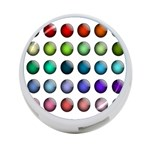 Button Icon About Colorful Shiny 4-Port USB Hub (One Side) Front