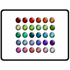 Button Icon About Colorful Shiny Fleece Blanket (Large)