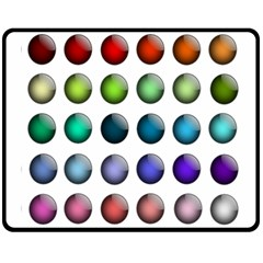 Button Icon About Colorful Shiny Fleece Blanket (Medium)