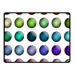 Button Icon About Colorful Shiny Fleece Blanket (Small)