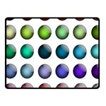 Button Icon About Colorful Shiny Fleece Blanket (Small) 50 x40 Blanket Front