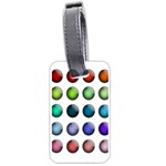 Button Icon About Colorful Shiny Luggage Tags (Two Sides) Front