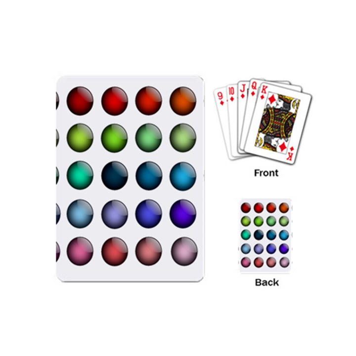 Button Icon About Colorful Shiny Playing Cards (Mini)