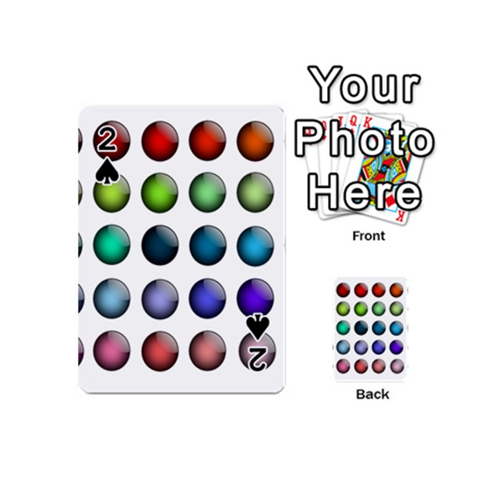Button Icon About Colorful Shiny Playing Cards 54 (Mini)
