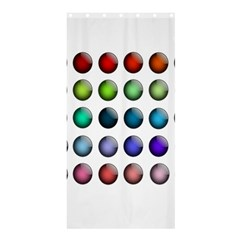 Button Icon About Colorful Shiny Shower Curtain 36  x 72  (Stall)