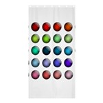 Button Icon About Colorful Shiny Shower Curtain 36  x 72  (Stall)  36 x72 Curtain