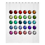 Button Icon About Colorful Shiny Shower Curtain 60  x 72  (Medium)  54.25 x65.71 Curtain