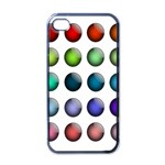 Button Icon About Colorful Shiny Apple iPhone 4 Case (Black) Front