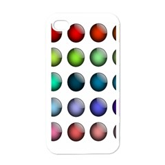 Button Icon About Colorful Shiny Apple iPhone 4 Case (White)