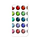 Button Icon About Colorful Shiny Apple iPhone 4 Case (White) Front