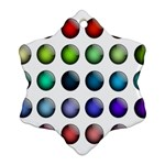 Button Icon About Colorful Shiny Ornament (Snowflake)  Front