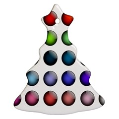 Button Icon About Colorful Shiny Ornament (Christmas Tree)