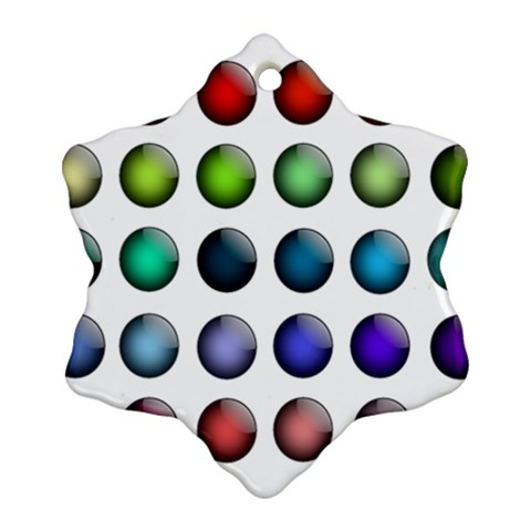 Button Icon About Colorful Shiny Snowflake Ornament (2-Side)