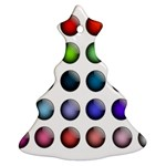 Button Icon About Colorful Shiny Christmas Tree Ornament (2 Sides) Front